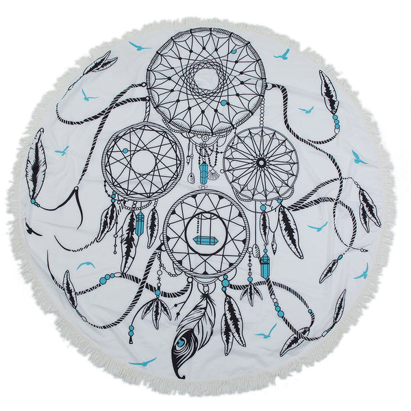 Circular Dreamcatcher Beach Throw/Tapestry - fifthandmaple
