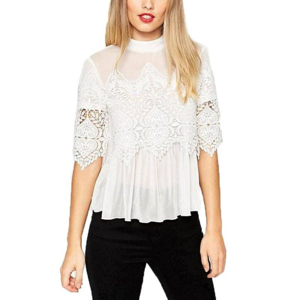 Shirt - Sheer Lace Top