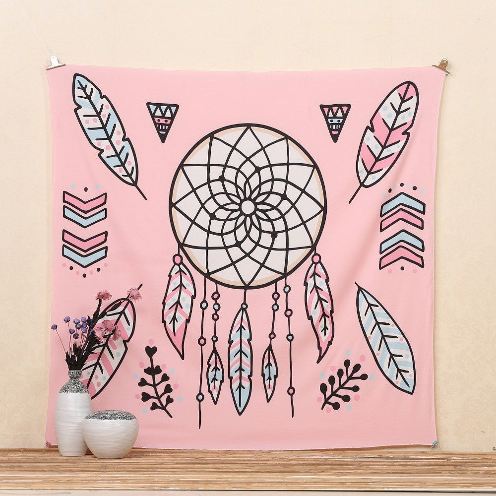Tapestry - Pink Dreamcatcher Tapestry
