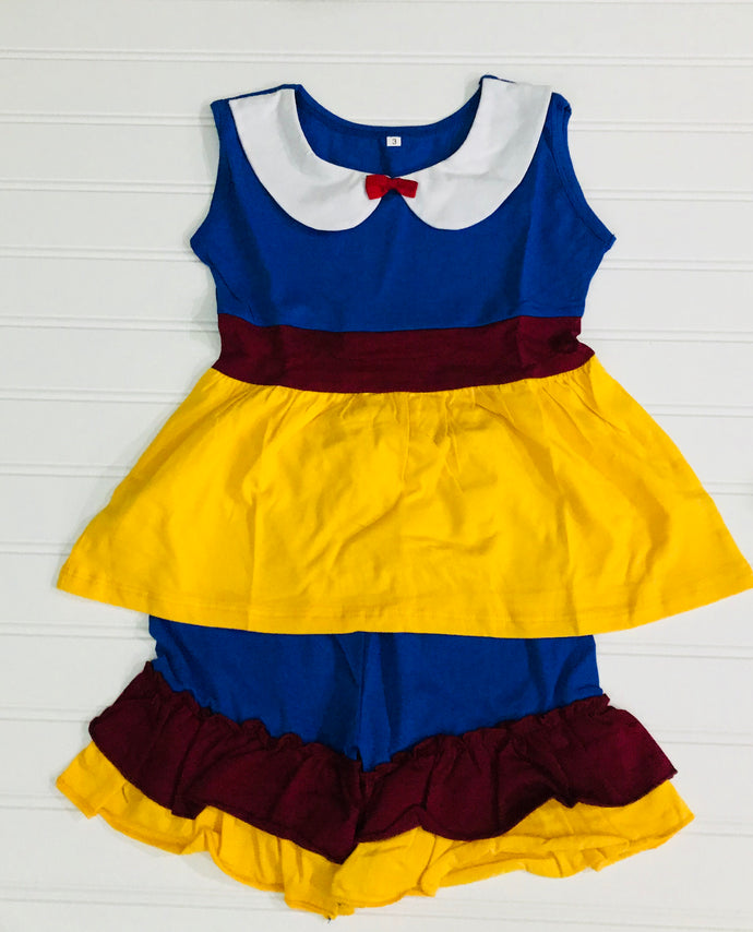 Snow White 2 pc short set