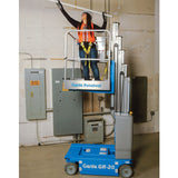 Genie GR20 vertical man lift action