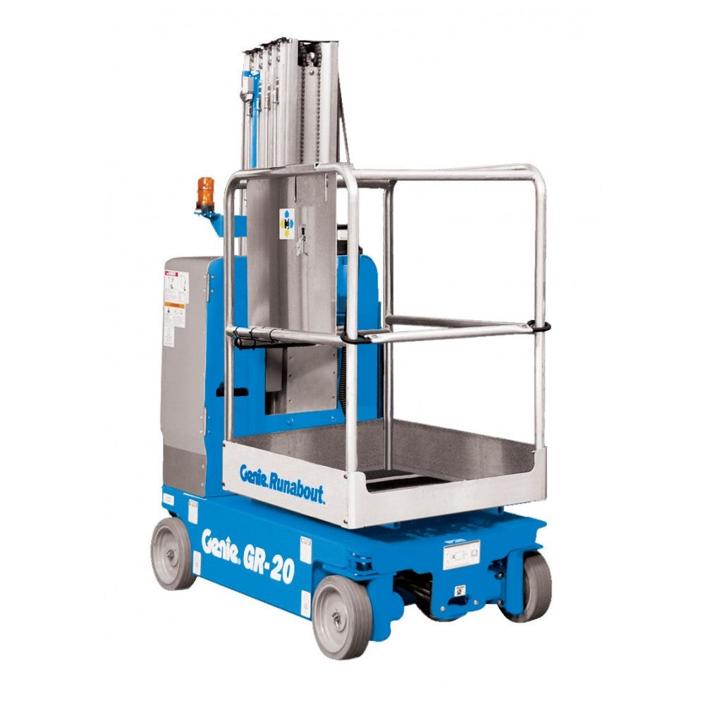 Hire man lift 20ft electric mega hire for Motorized vertical tv lift
