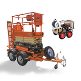 Pressure washer & Scissor lift on trailer package - Mega Hire