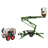 Trailer cherry picker (12m) & Pressure Washer Package - Mega Hire
