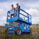 Scissor Lift - 7.9m (26ft) Rough Terrain - Mega Hire