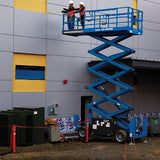 Scissor Lift - 7.9m (26ft) Rough Terrain Genie - Mega Hire
