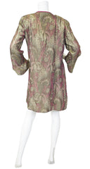 1920s Gold & Pink Metallic Lamé Evening Jacket