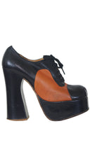 1970's Black & Brown Monster Platform Shoes