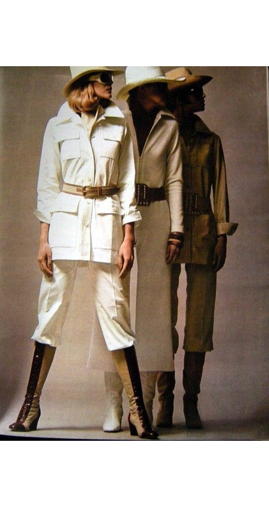 1969-1970 Documented White Cotton Safari Jacket
