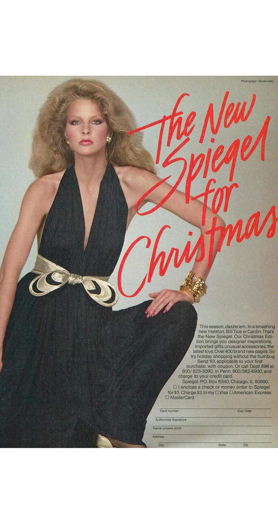 1980 Documented Plunge Neck Backless Gold & Black Jersey Gown