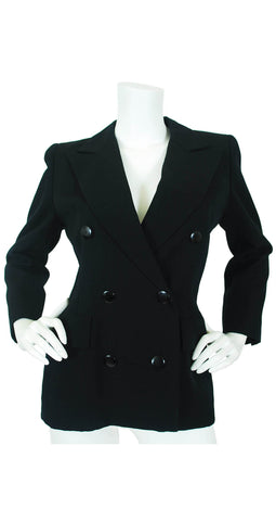 1981 S/S Haute Couture Black Wool Blazer