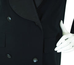 1980 F/W Haute Couture Black Wool Tuxedo Coat