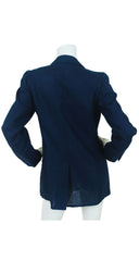 Cheap and Chic X&0's Navy Linen Blazer
