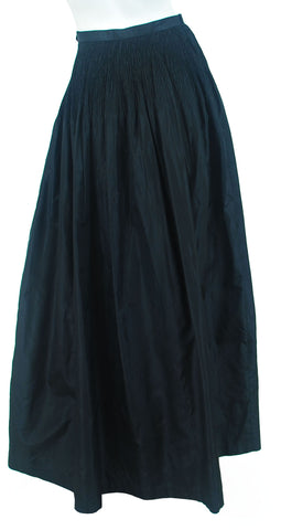 1970's Black Silk Taffeta Evening Skirt
