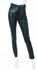 Jeans Couture Black Shiny Disco Pants