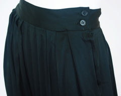 Late 1970s High Waisted Black Satin Breeches