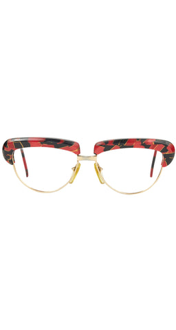 1987 619 326 Marbled Cateye Eyeglasses Frames
