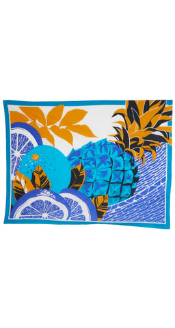1980s NOS Tropical Fruit Cotton Beach Pareo