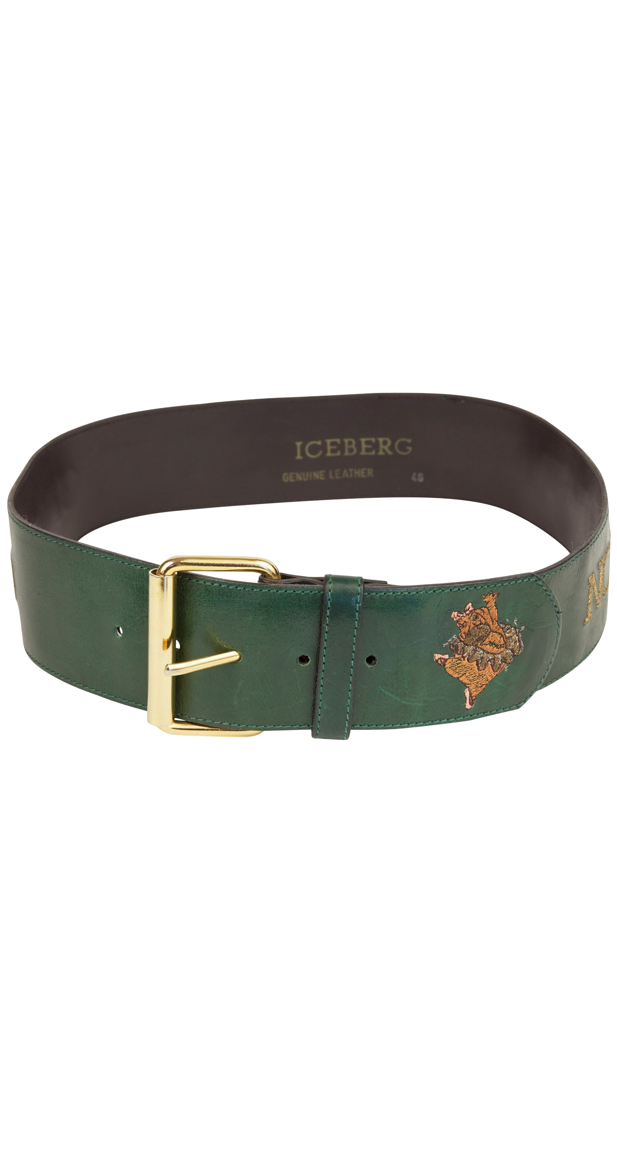 """NOT JUST ONE OF THE CROWD"" Fantasia Dancing Hippo Leather Belt"