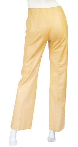 1970s Supple Tan Leather Pants