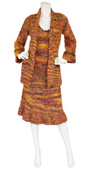 1970s Wool Knit Three-Piece Outfit