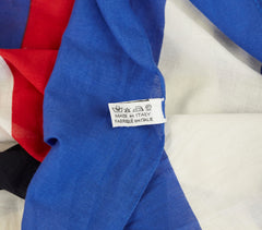 "Blue, Red and White Cotton 61"" Beach Pareo Wrap"