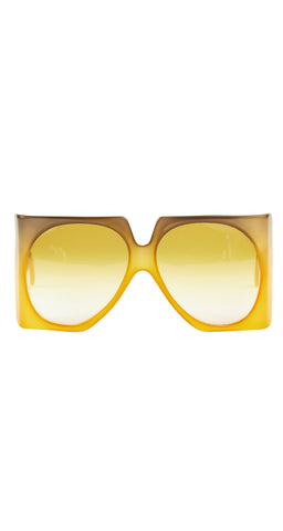 1970s D03 Oversized Gradient Square Sunglasses
