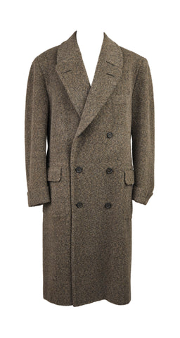 1980s Men's Alpaca Double-Breasted Overcoat