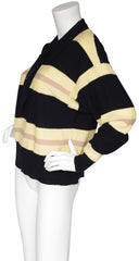 1985 F/W Runway Ascot Tie Striped Wool Sweater