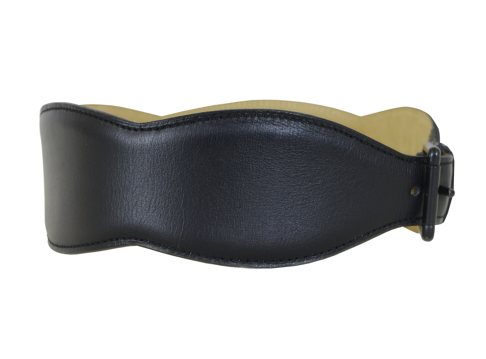 Black Leather Heart & Magnifying Glass Belt