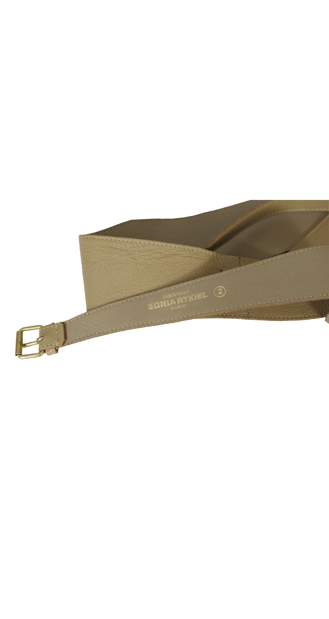 1980s Wide Tan Leather Obi Style Belt
