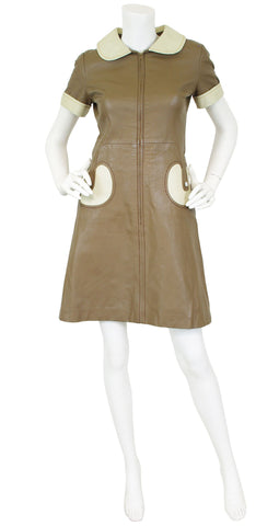 1960's Space Age Leather Mini Dress