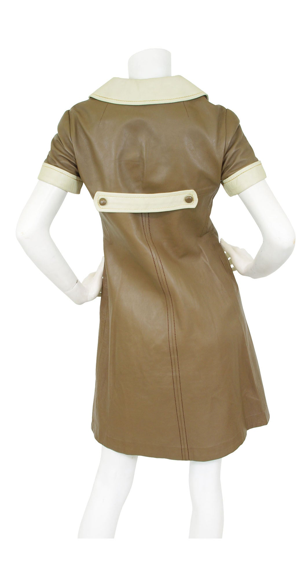 1960s Space Age Leather Mini Dress