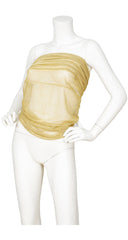 1977 Documented Gold Lurex Belt or Bandeau Top