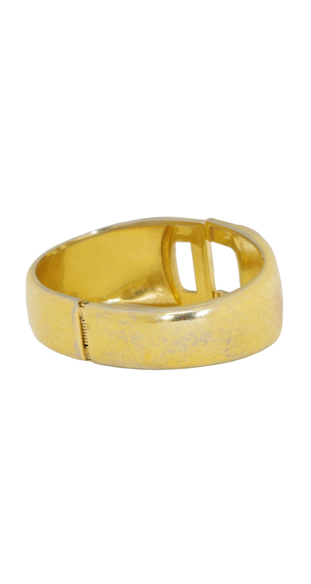 "1972 ""CD"" Gold Tone Clamper Bracelet"