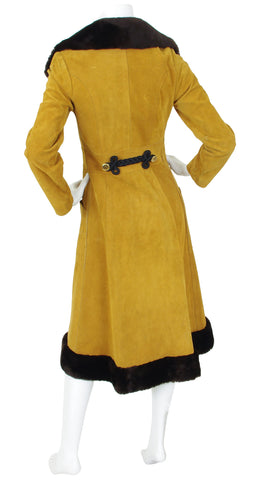 1970s Suede Russian Princess Style Coat