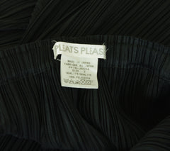 Pleats Please Black Geometric Hem Skirt