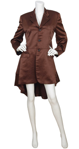 AD1995 Brown Satin Tuxedo Tail Coat