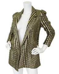 1980 Quilted Metallic Gold Jacket by Karl Lagerfeld