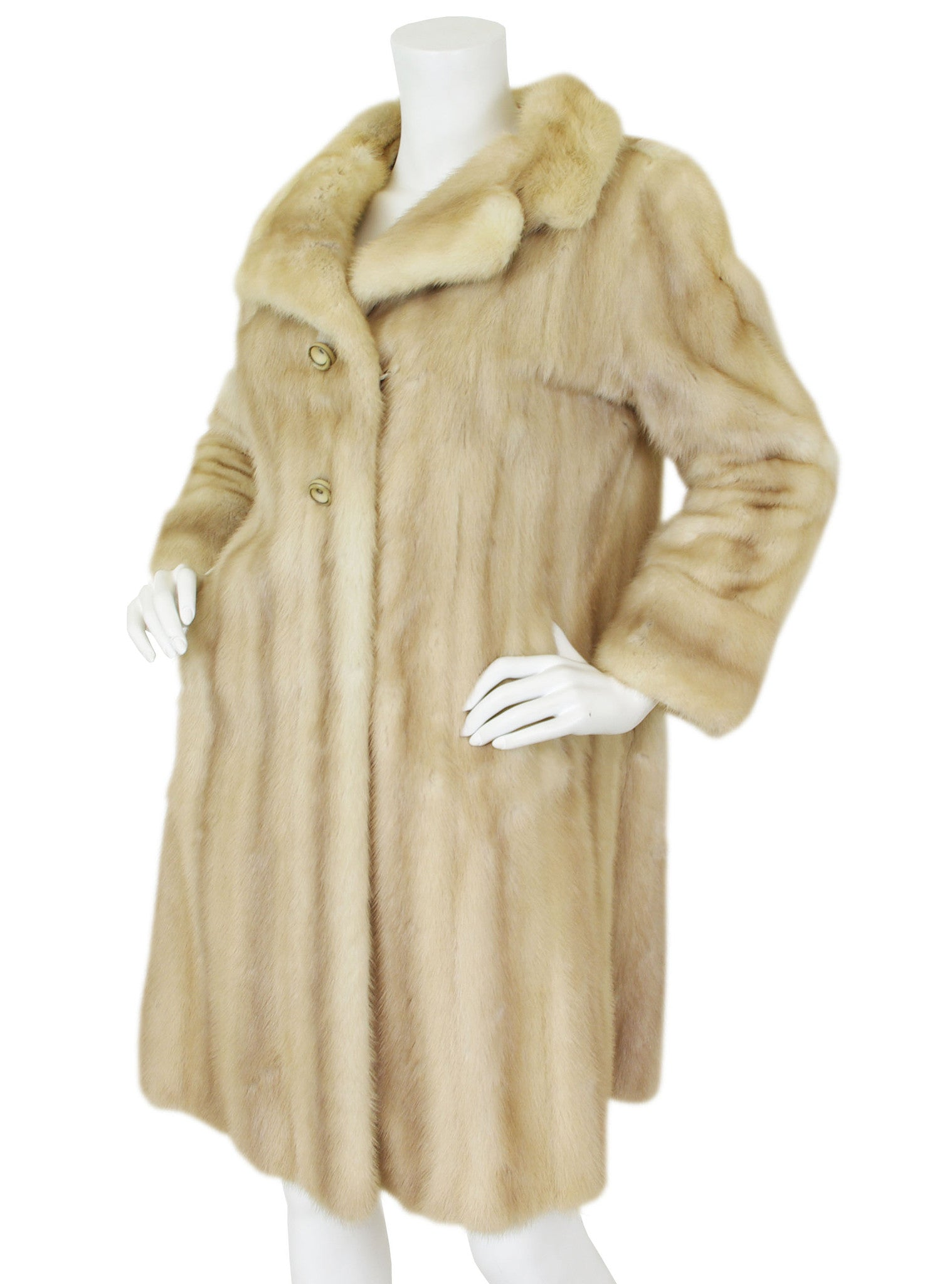 1960s Genuine Blonde Mink Fur Coat