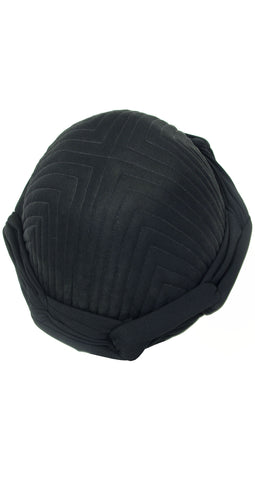 1970s Rare Black Knotted Turban
