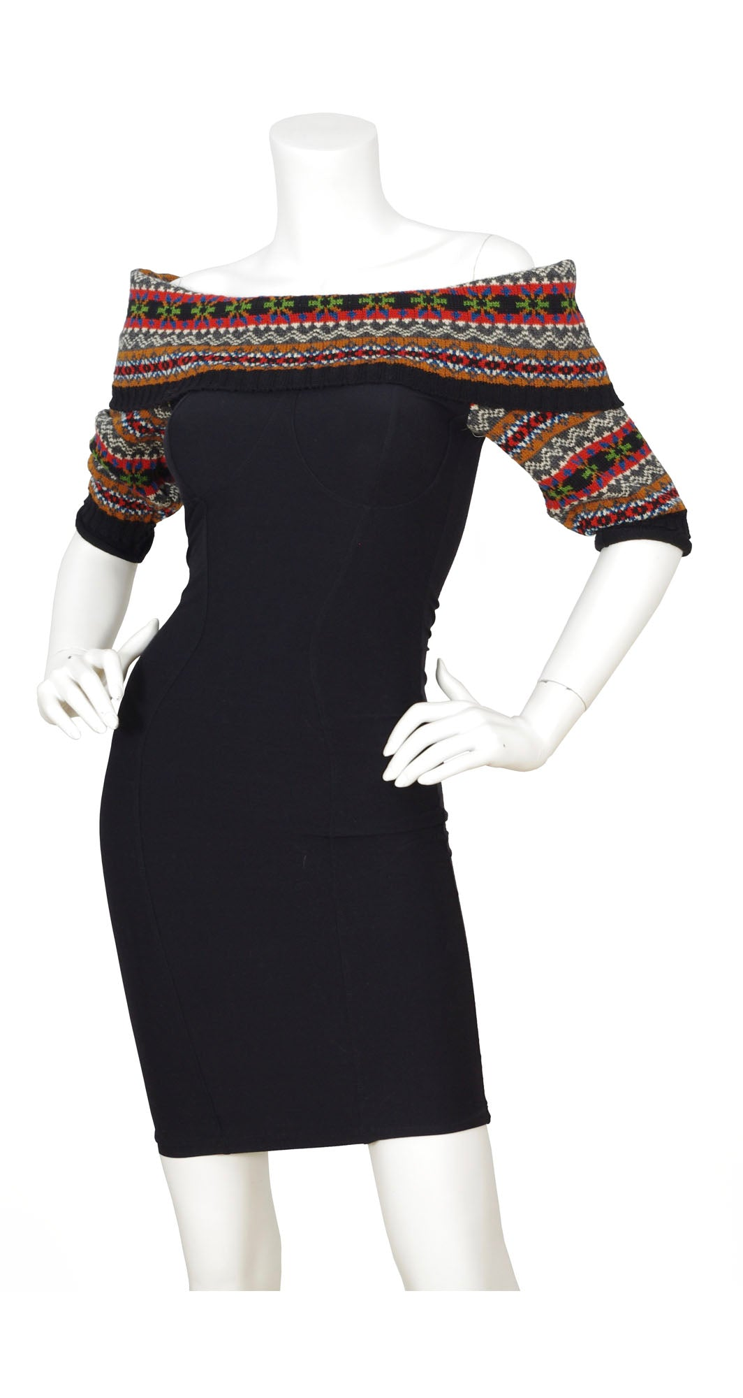1992 F/W Runway Knit & Bodycon Mini Dress