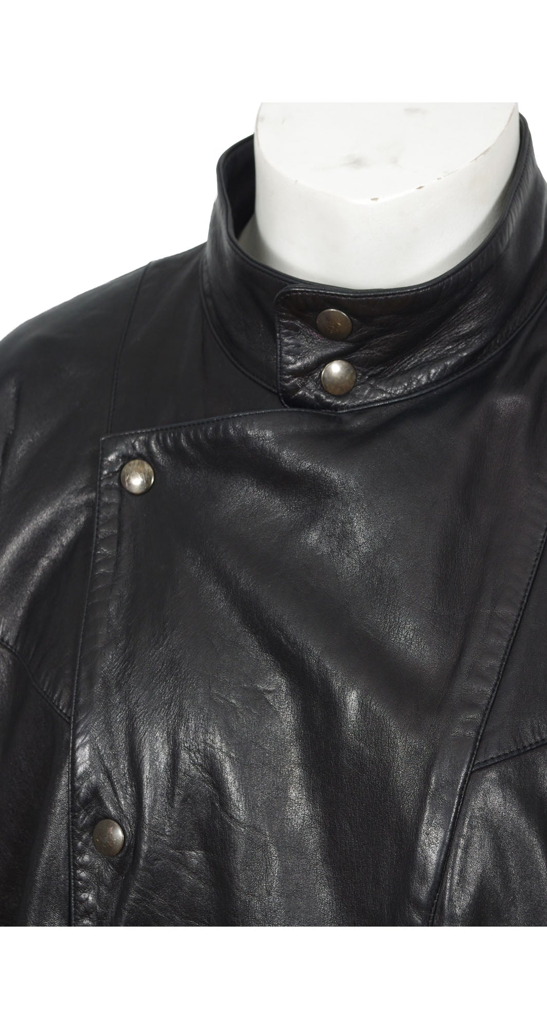 1980s Men's Ideal Cuir Black Leather Jacket