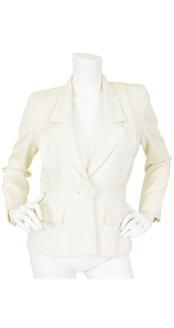 1977 S/S Haute Couture Cream Wool Blazer