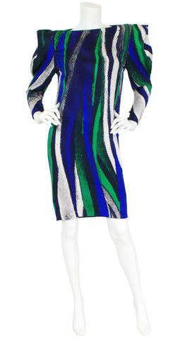 1980s Silk Avant Garde Sleeve Dress