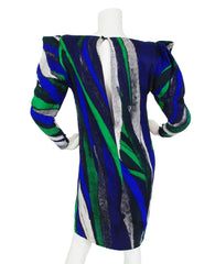 Couture 1980's Silk Avant Garde Sleeve Dress