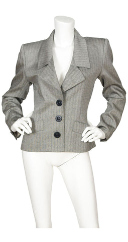 Early 1990s Rive Gauche Grey Blazer
