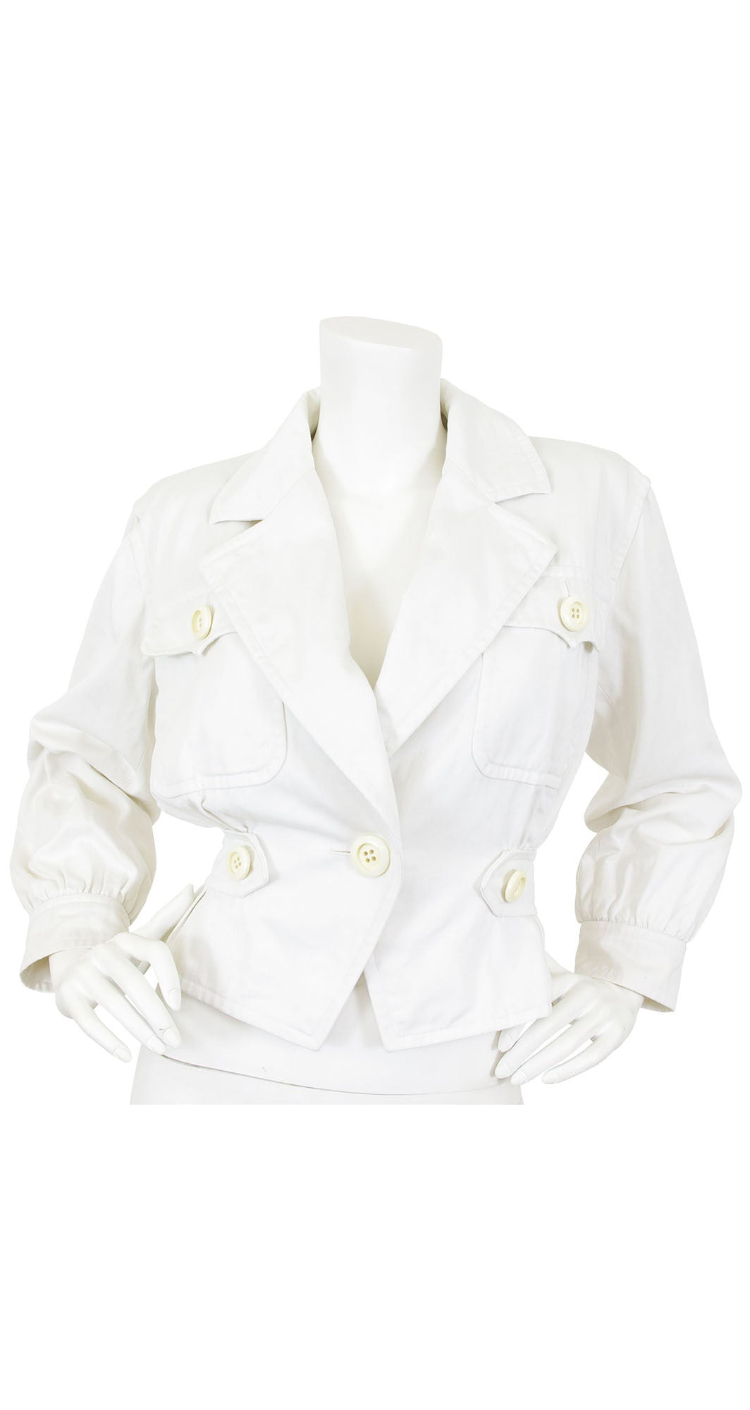 1986 Ad Campaign White Cotton Jacket