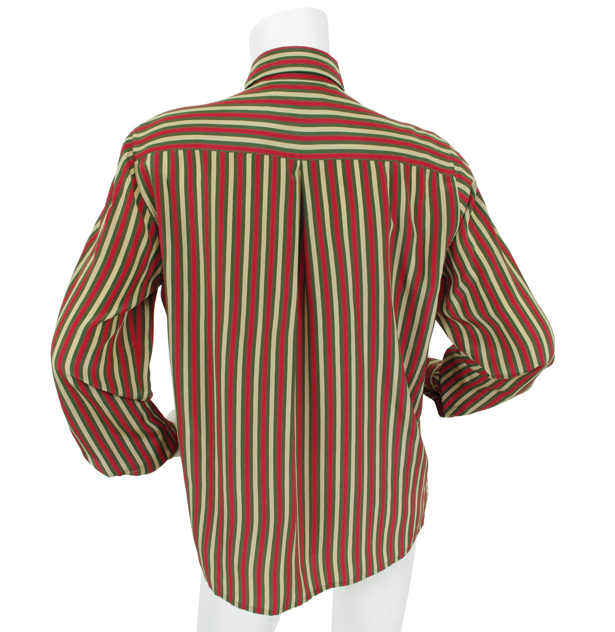 1970s Iconic Colours Striped Silk Blouse