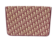 1970's Burgundy Monogram Canvas Envelope Clutch